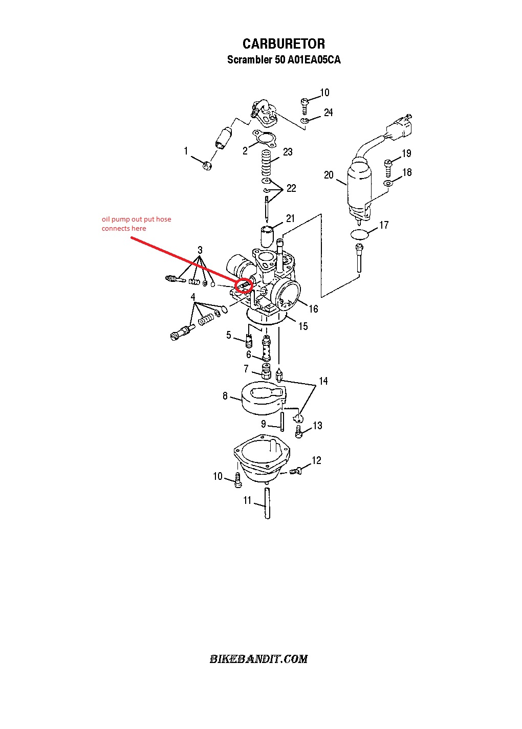 honda 250ex carburetor diagram