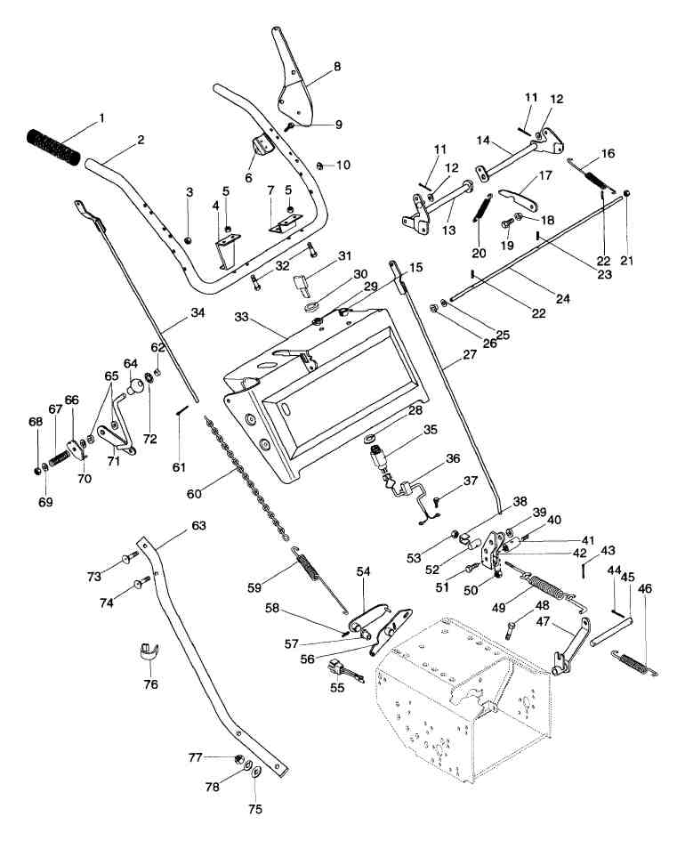 i have an ariens snowblower 8 hp 924082 the rod and spring : ariens snowblower parts diagram - findchart.co