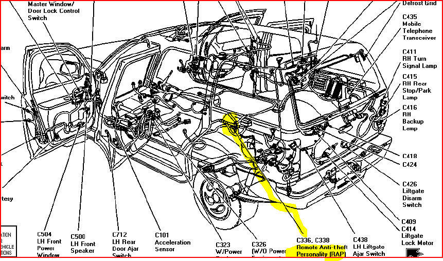 97 ford explorer fuel pump wiring diagrams