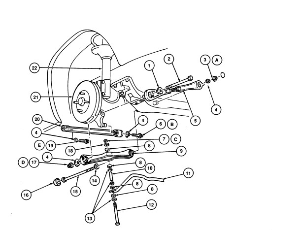 ford escape front suspension diagram