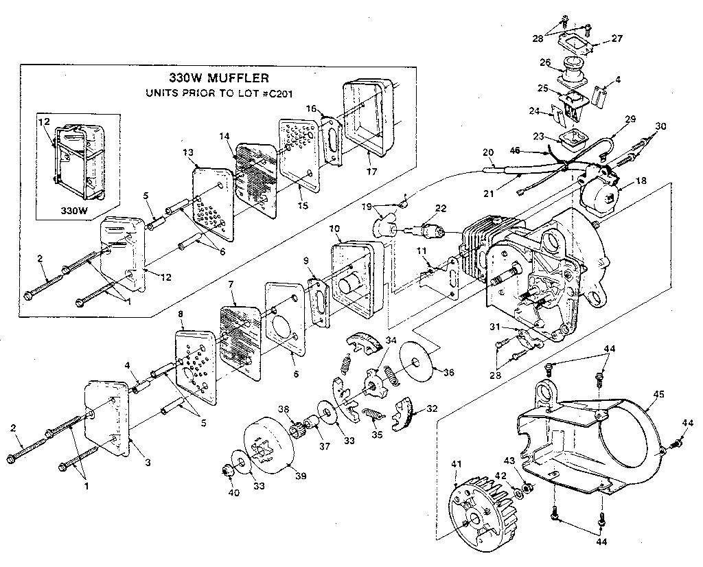 Homelite Ut10660 Parts List And Diagram : Ereplacementparts ...