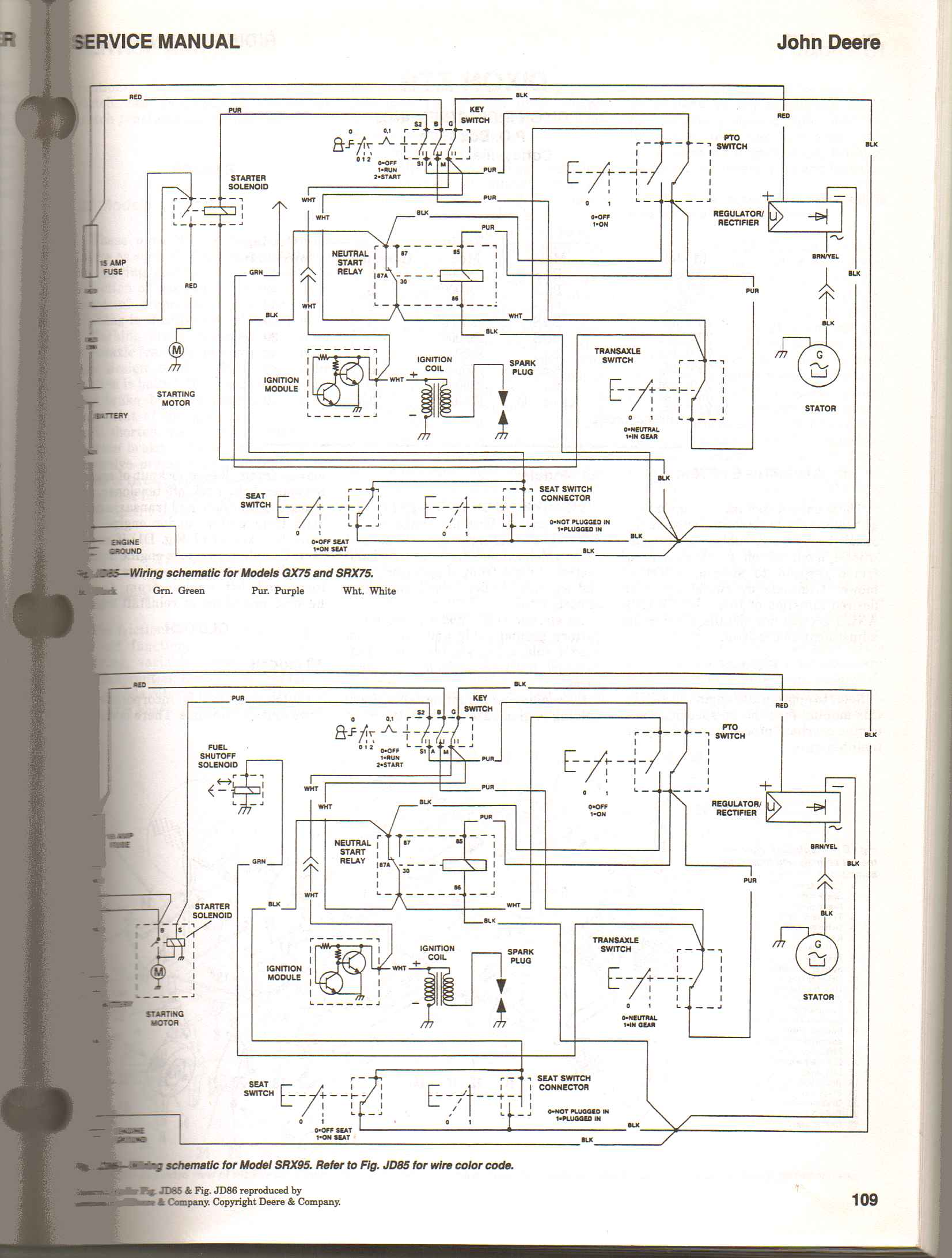 john deere gx wiring diagram john wiring diagrams i have a rx75 john deere riding mower it will not start replaced