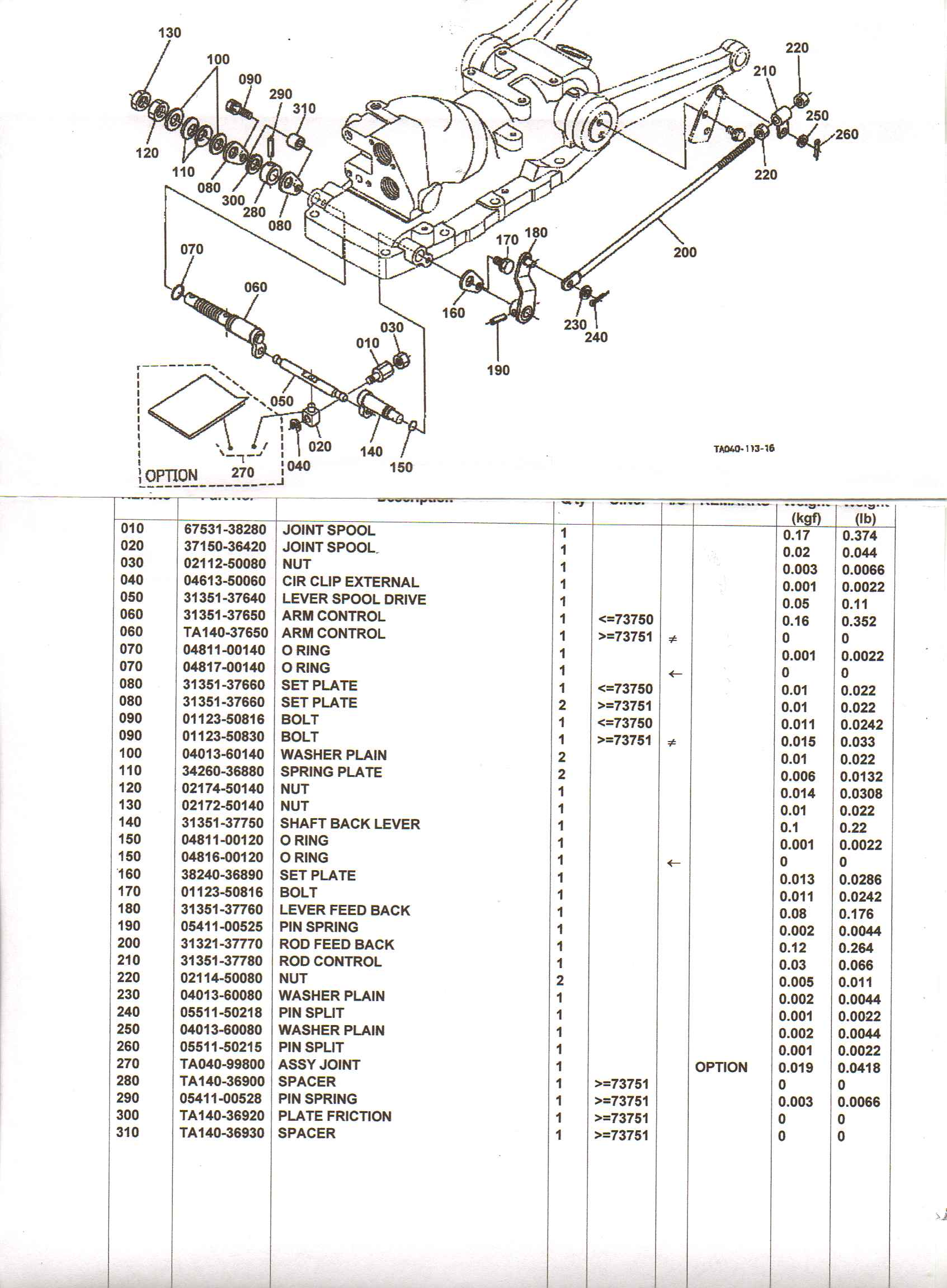 need to see the parts diagram for the transmission of a