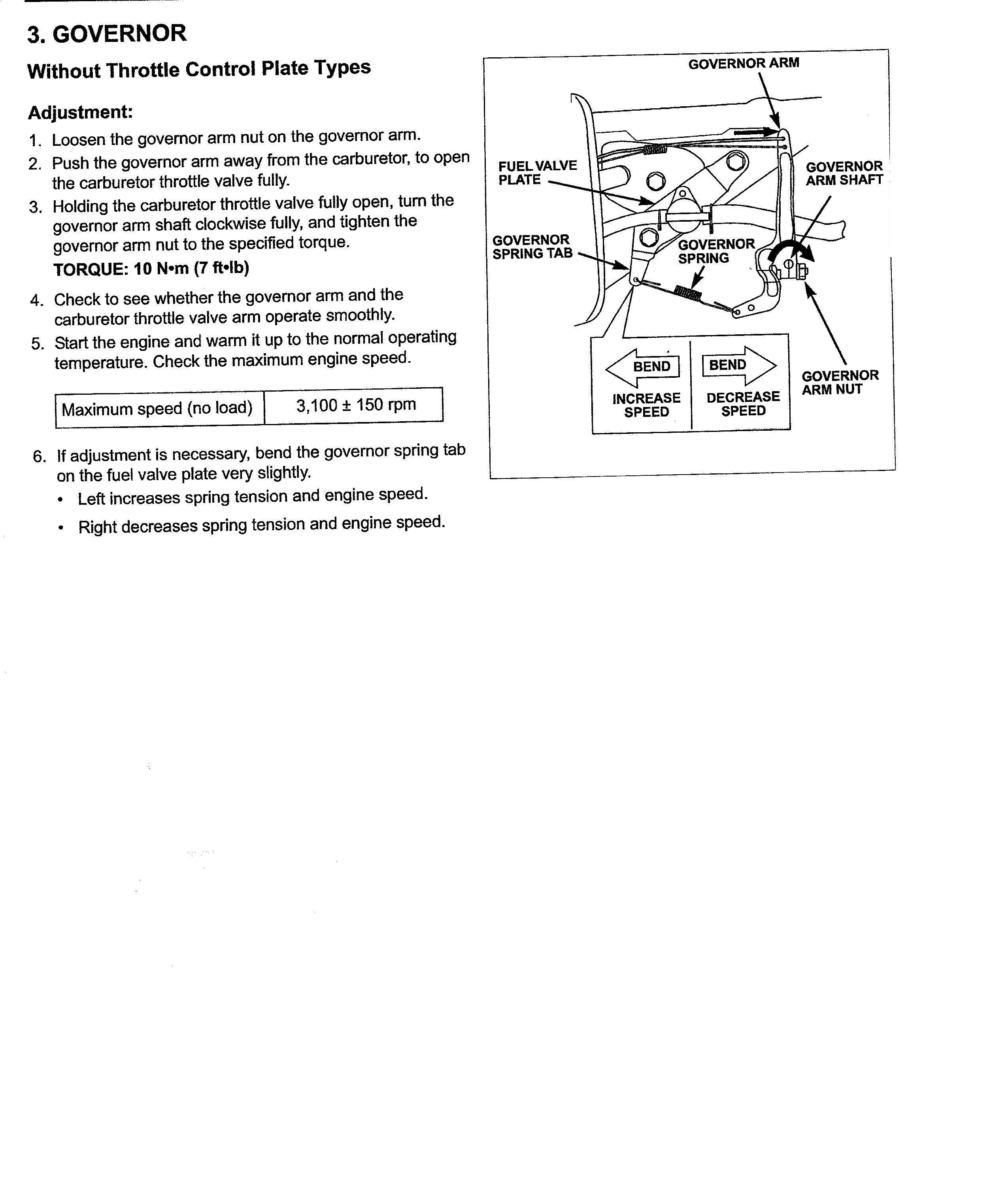Manual for Honda 160cc engine on Troy Bilt 11a542q711 lawn mower?