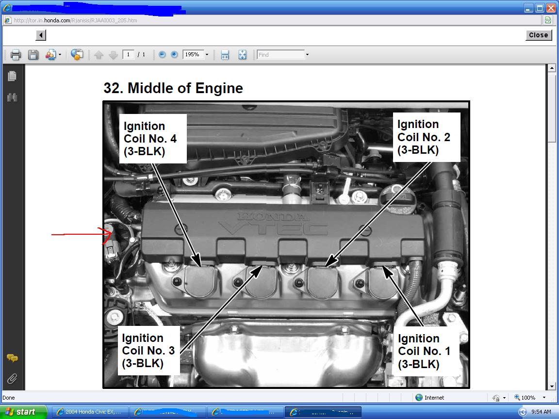 1992 Honda Accord Ex Ignition Coil Wiring Diagram  Honda  Auto Parts Catalog And Diagram
