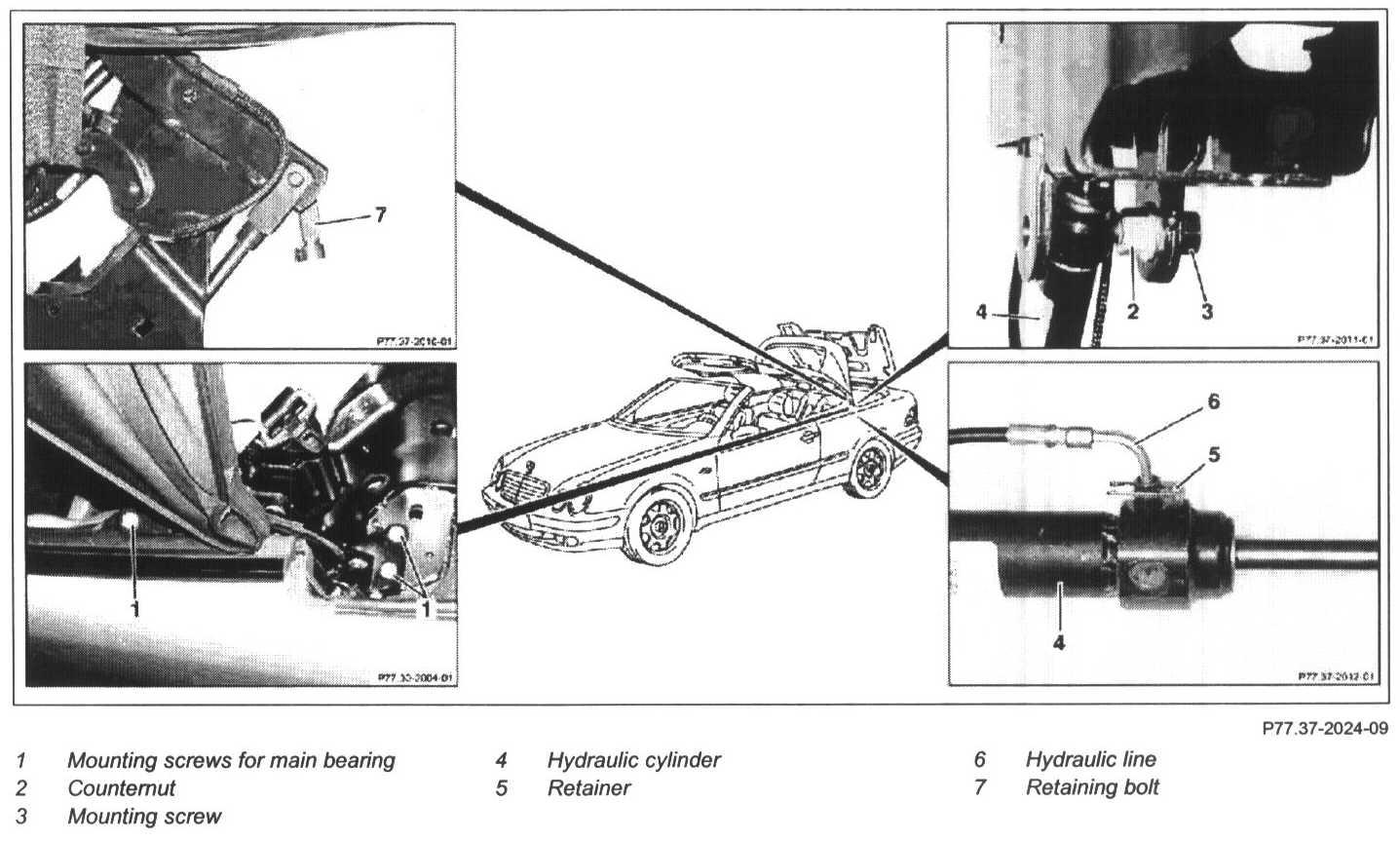 I Have A 2000 Clk430 Cabriolet I Found A Hydraulic Fluid
