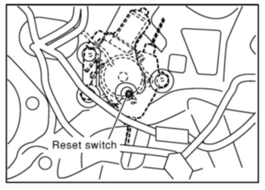 Please advise how to access the top of the rear struts on for 2000 nissan altima window switch