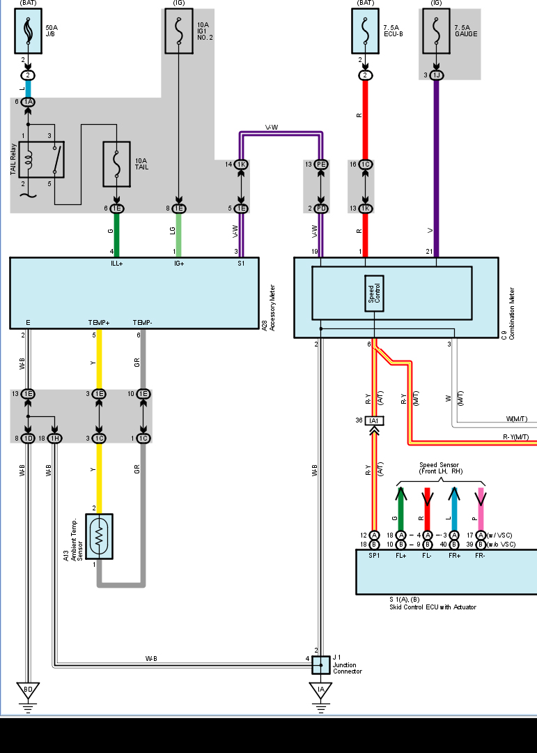 2006 toyota the connector wiring diagram voltage 12 volts graphic
