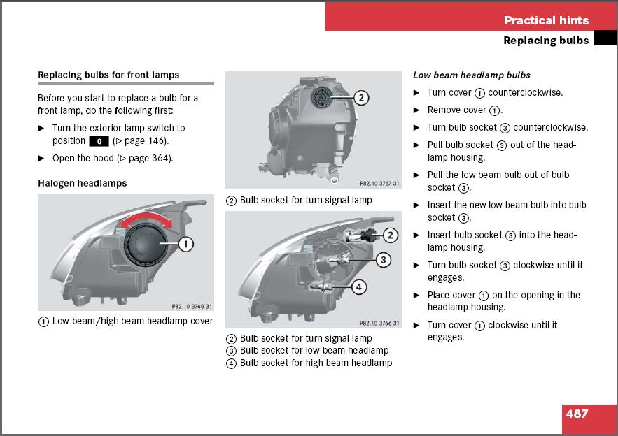 How do i replace the left low beam for a mercedes r350 for Mercedes benz low beam bulb