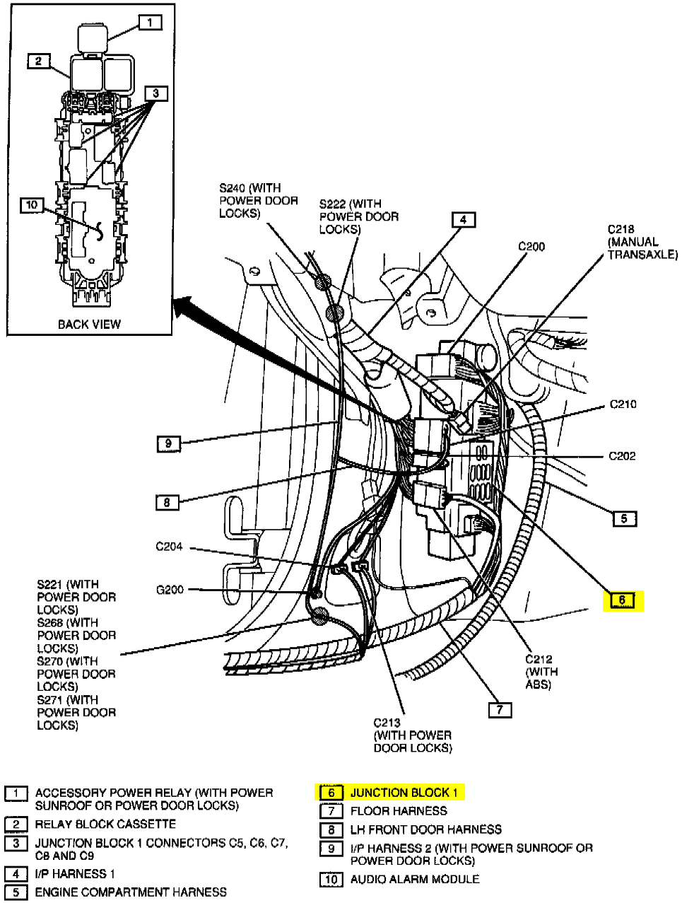 chevy metro fuse box diagram