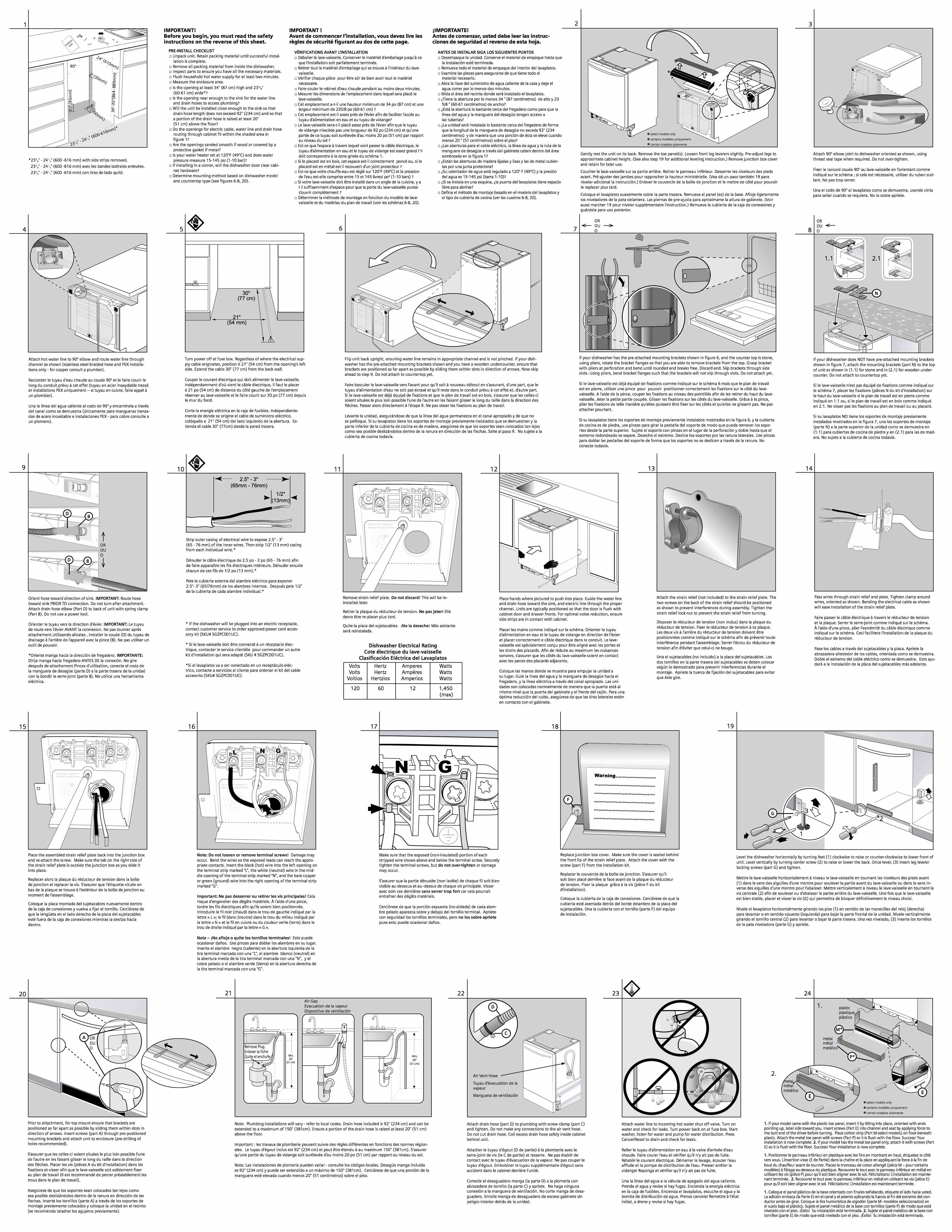 Bosch dishwasher installation manual