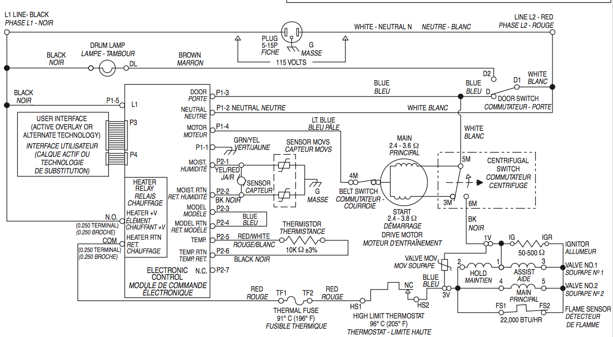 I Own A Whirlpool Ggw9200lw0 Dryer And I Need A Wiring Diagram  How Can I Get One