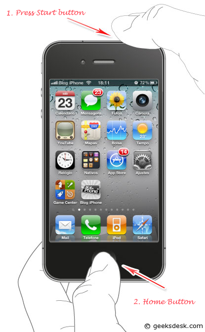 how to open iphone 4s without password