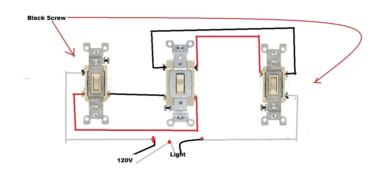 Wire Diagram For 4 Way Switch Wiring Image With Dimmer Lights Wirdig Rocker On A 2 Light