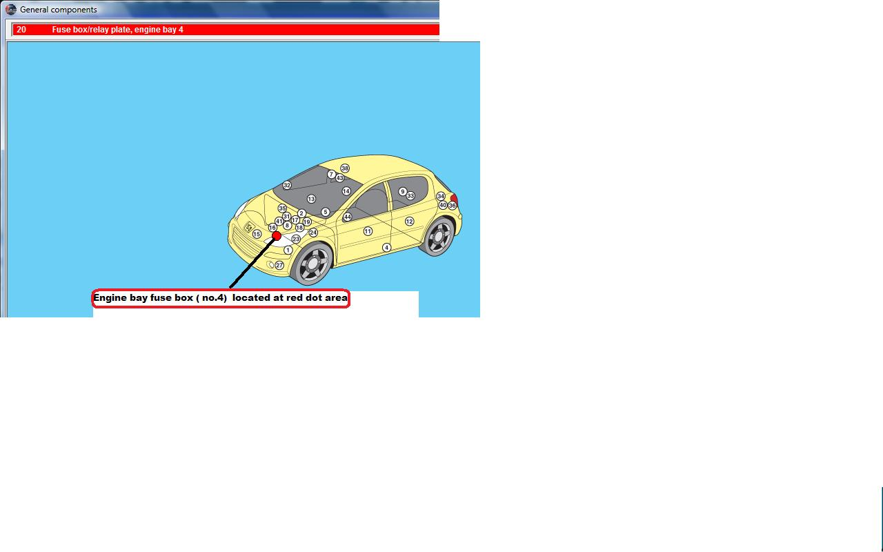 car window fuse location