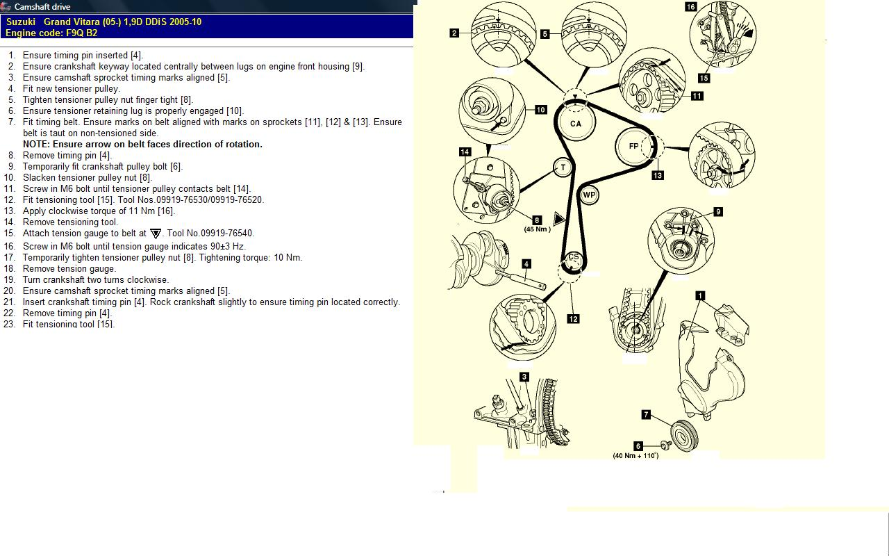 2006 suzuki grand vitara belt diagram  2006  free engine