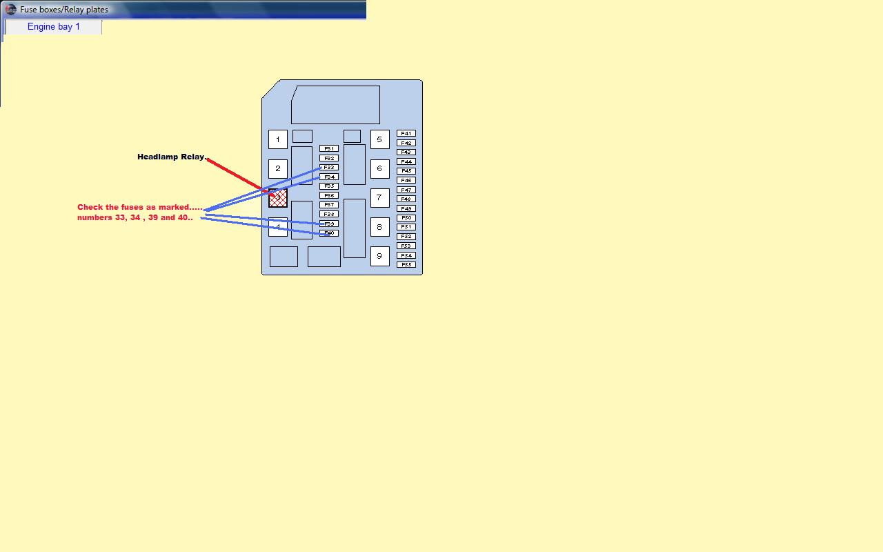 nissan micra fuse box diagram