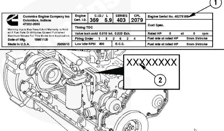 I Need To Know What Kind Of Cummins Engine Is In My 2000