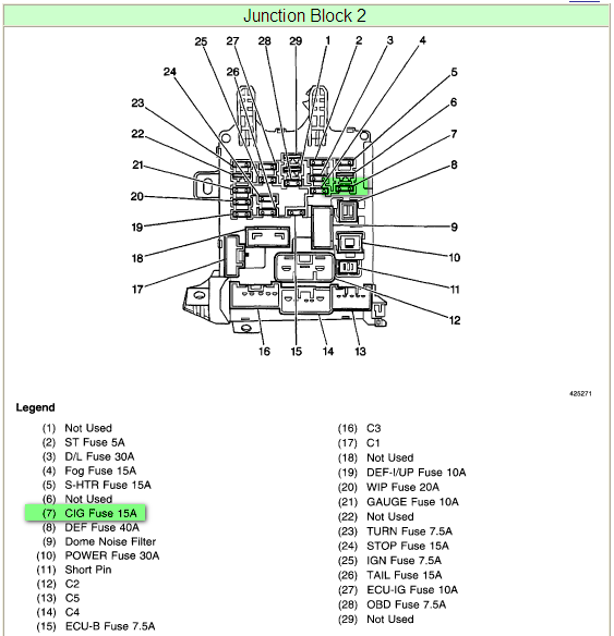 1998 chevy prizm fuse box diagram 98 chevrolet prizm fuse box. 98. free printable wiring ...
