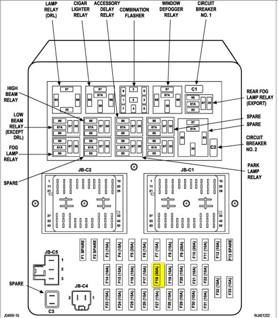 1990 Jeep Cherokee Vacuumrotorhood Fuses Wiring To The Fuse Box