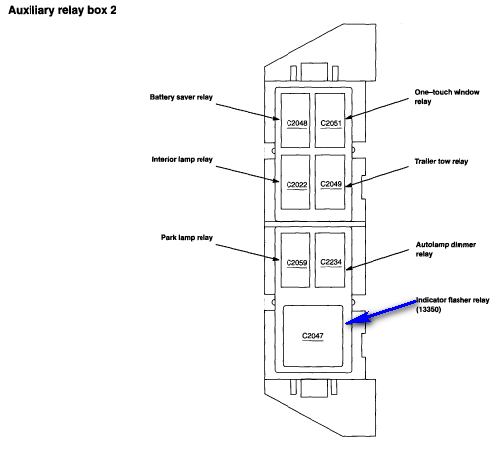 2000 ford ranger relay diagram under the dash  2000  free engine image for user manual download