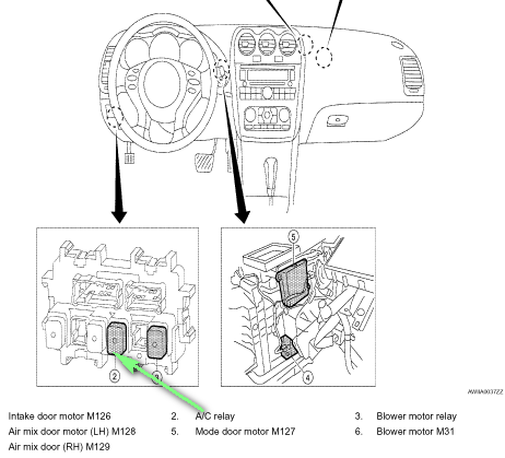 T8395010 Shift solenoid located in 2005 moreover Back Door System also 90 300zx Wiring Diagram in addition How To Replace Oxygen Sensors T573400 moreover RepairGuideContent. on nissan 350z wiring diagram