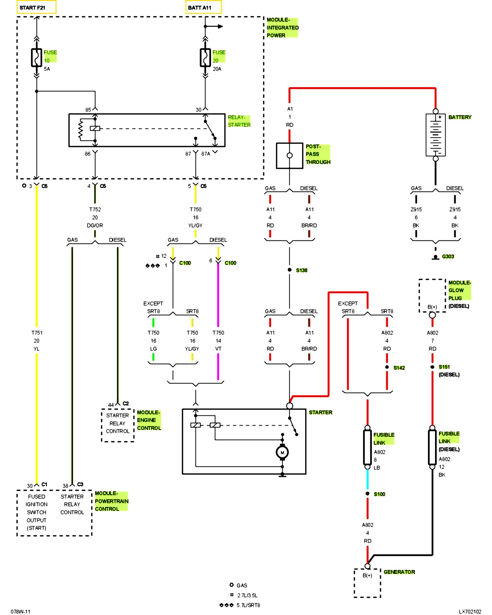 DCB Pt Cruiser Starter Relay Wiring Diagram | Wiring ResourcesWiring Resources