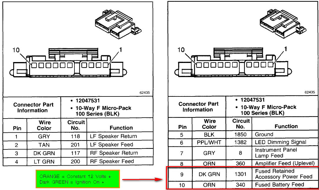 2001 Gmc Sierra 2500 Radio Wiring Diagram - Schematics and Wiring ...