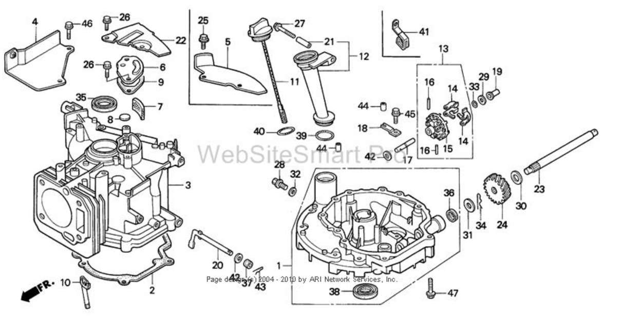 Lawn Mower Parts Diagram Lawnmowers Snowblowers