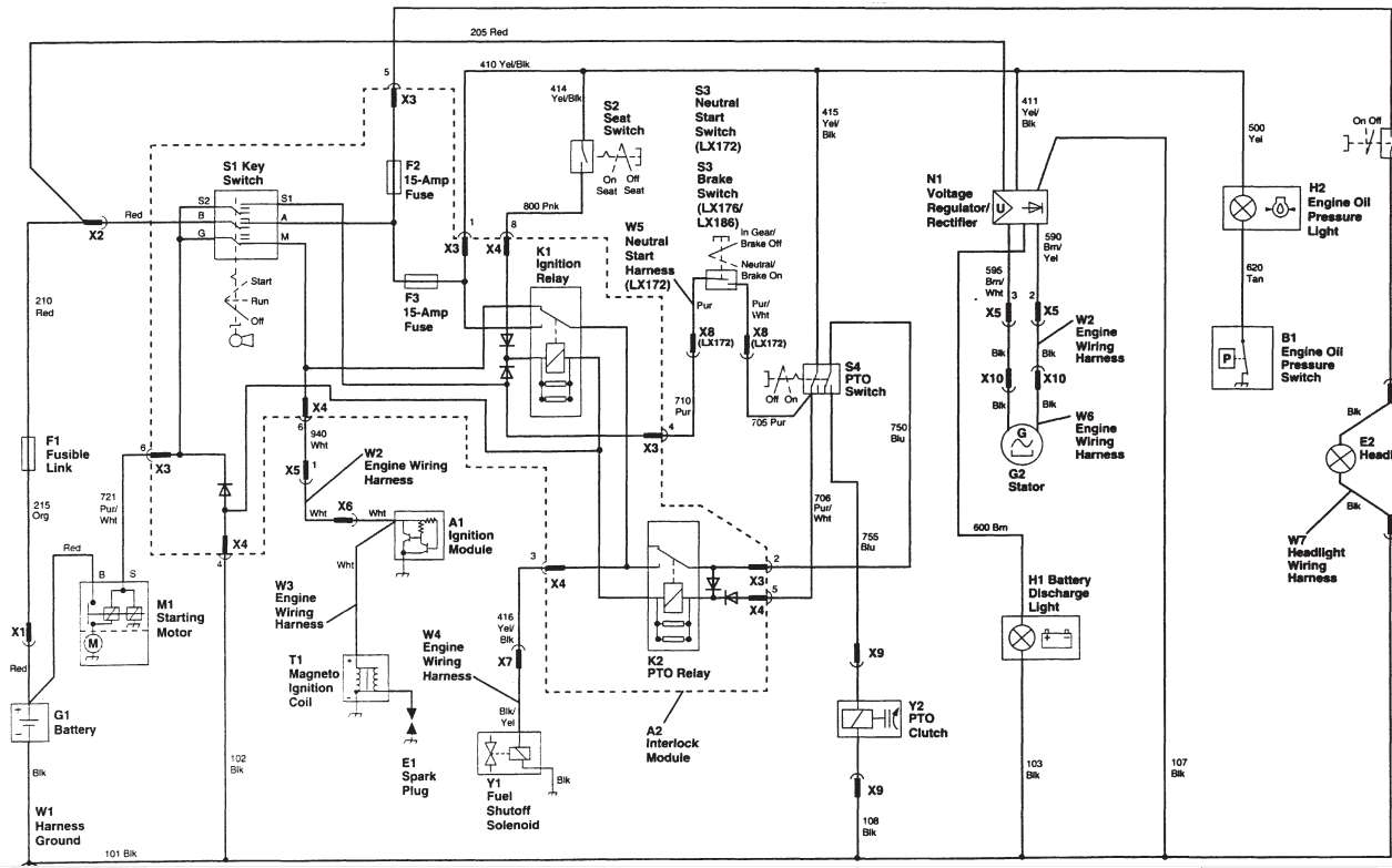 Wiring Diagram For John Deere Stx38