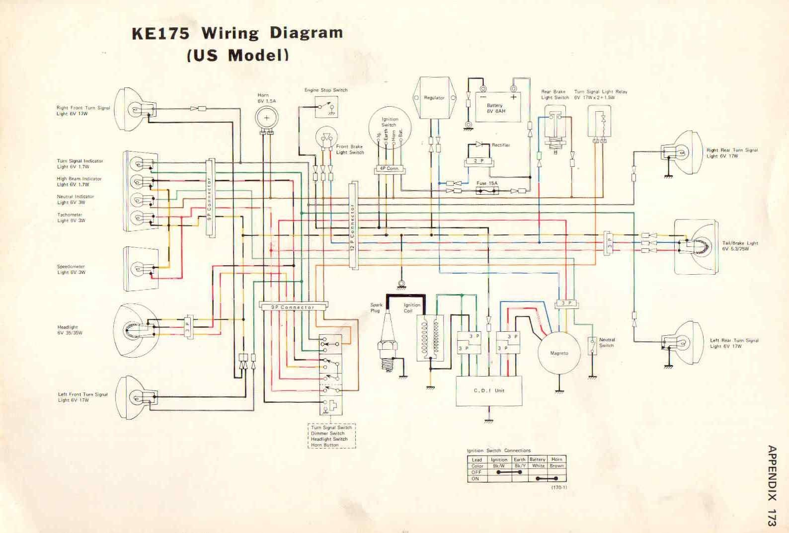 Kawasaki 100 Wiring Diagram Data Turn Signal And Ke Light Ke100 Schema Diagrams Audi