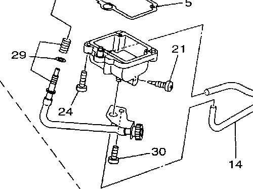 grizzly 600 engine diagram i have a yamaha grizzly 600, there's a clear plastic hose ... #11