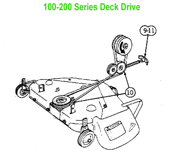 John Deere 214 Mower Deck Belt Diagram
