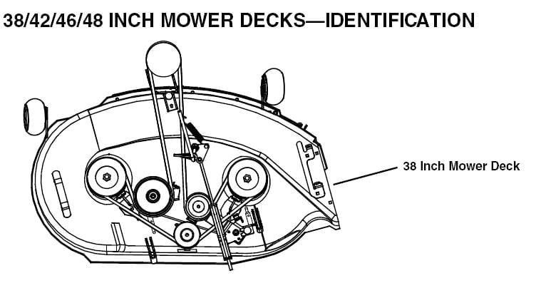 john deere stx38 black mower deck belt diagram help please