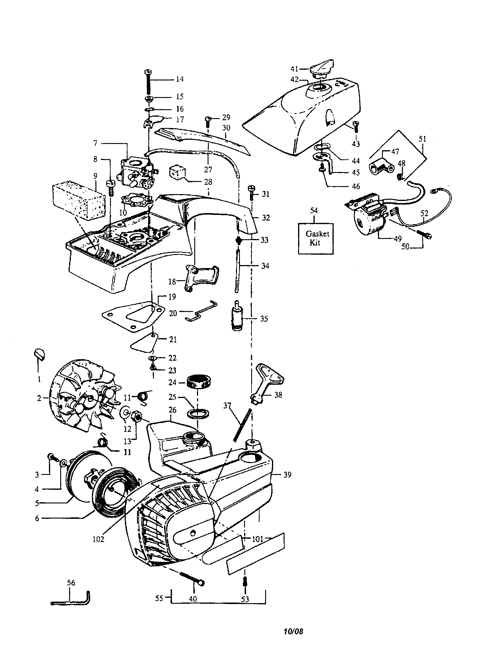 Poulan P3314 Fuel Line Diagram Com