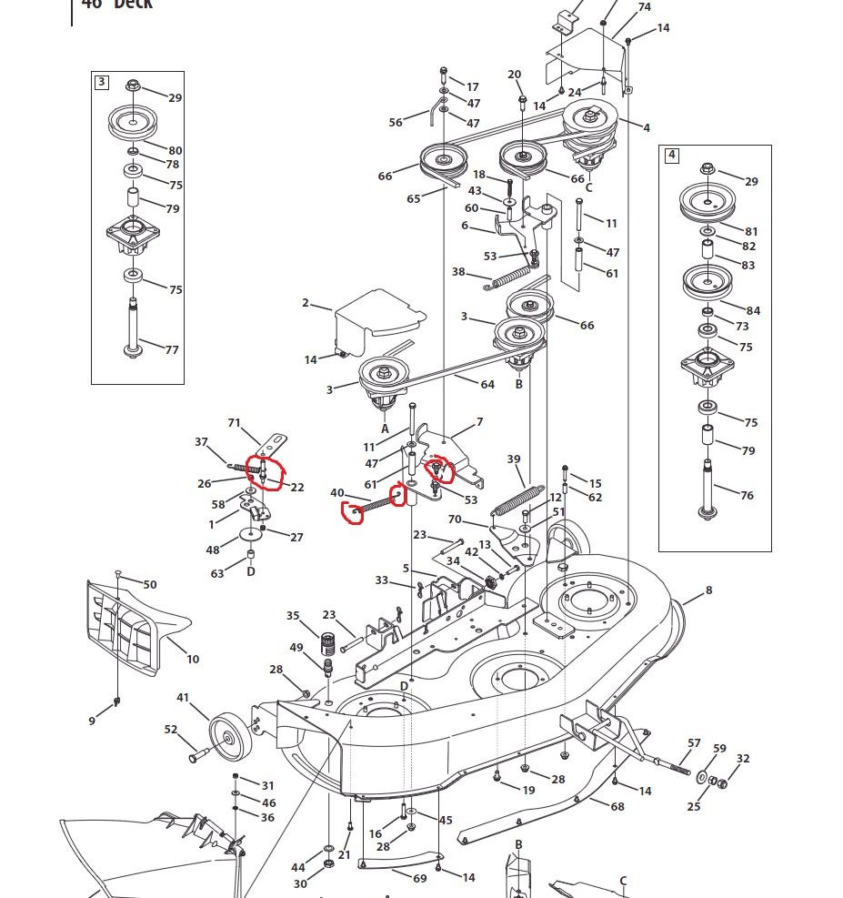 Cub Cadet 38 Mower Deck Belt Diagram as well Beautiful Huskee Riding Lawn Mower Parts 12 Mtd Riding Lawn Mower Deck Parts Diagram also How to replace drive belt on Craftsman riding mower in addition Yard Machine 42 Inch Riding Mower Belt Diagram besides 5zdsj Broke Uppeer Drive Belt Mowing Deck Mtd 46 Ride. on bolens 42 inch mower deck parts