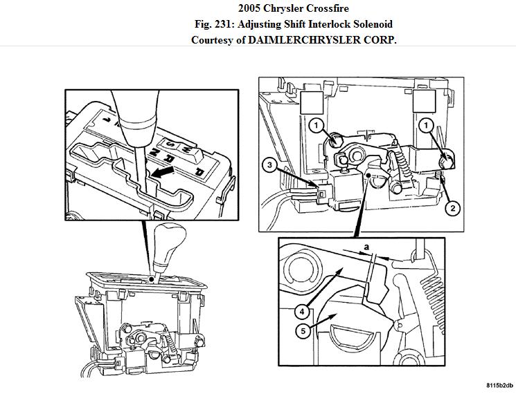 service manual  how to change shift interlock solenoid