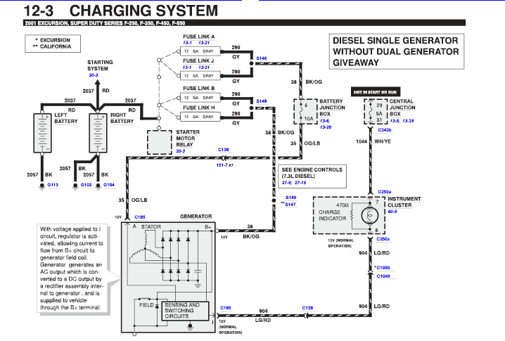1991 ford f 350 alternator wiring just replaces alternator and batteries on f350 powerstroke ... 2005 ford f 350 alternator wiring diagram