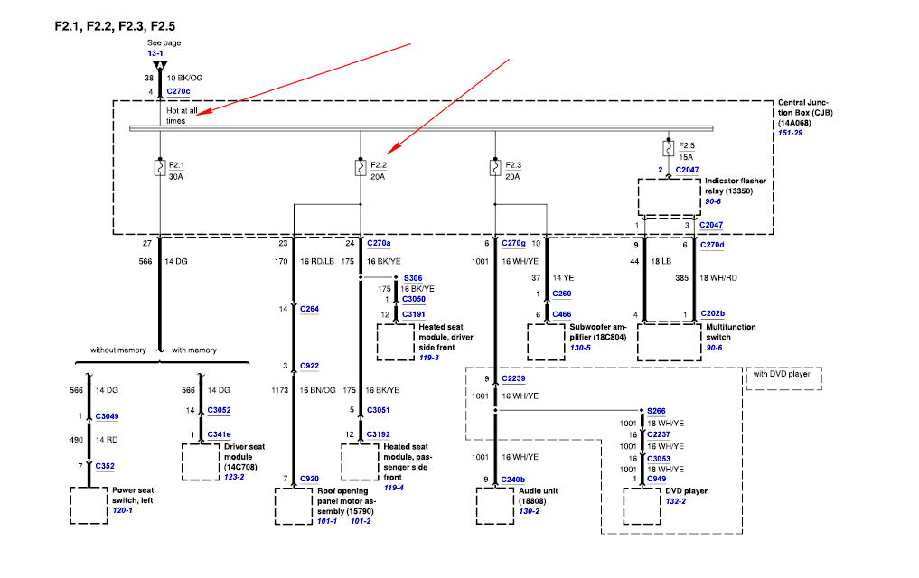 2003 Ford Explorer Xlt  Wiring Diagram  Factory  Fuse Box