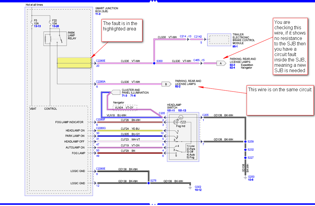 our 2007 ford expedition has no tail lights. we have ... ford escape tail light wiring diagram 2001 ford explorer tail light wiring diagram