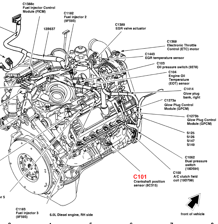 bmw crankshaft position sensor location  bmw  wiring