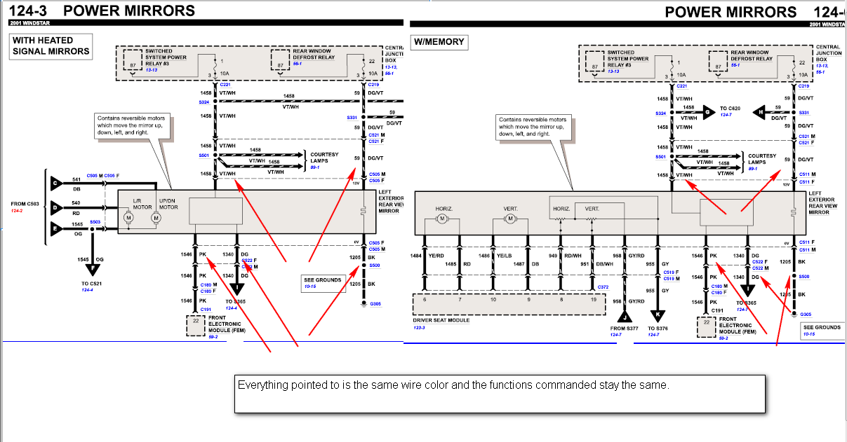 2003 ford taurus wiring diagram power window wiring window power windstar switch diagram2001ford