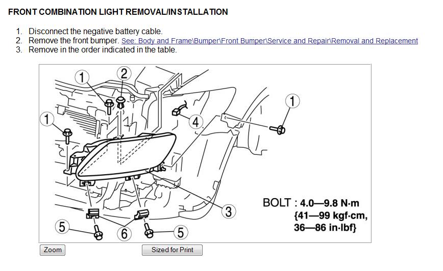 how to change headlight bulb mazda cx 7 2010