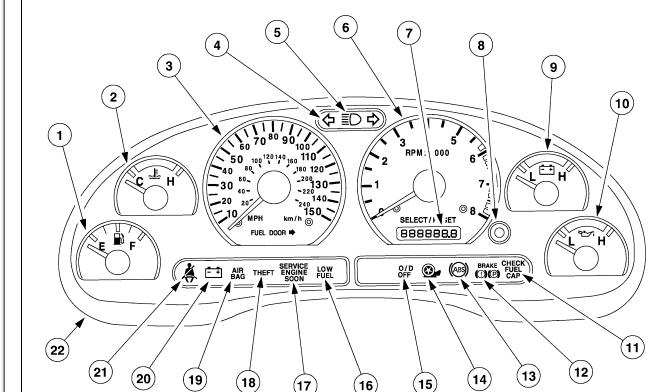 ford f350 dually dash warning symbols