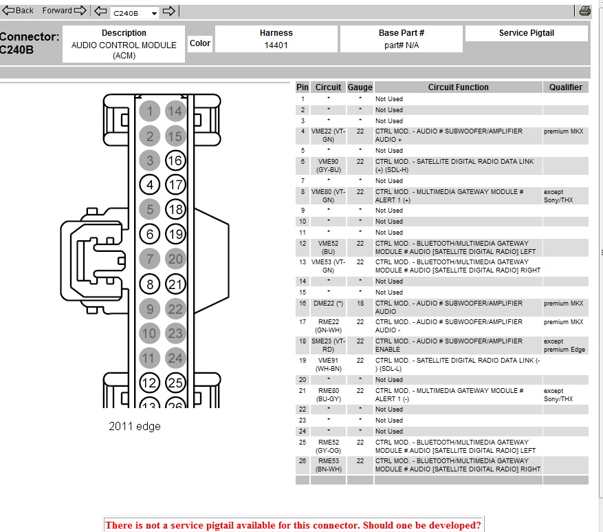 2008 Ford Edge Wiring Diagram