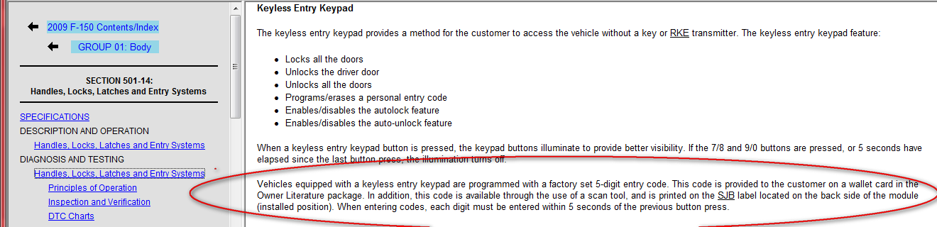 how to change keyless entry code