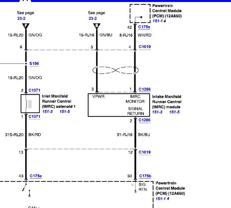 Engine wiring diagram for intake manifold solenoid (IMRC ...