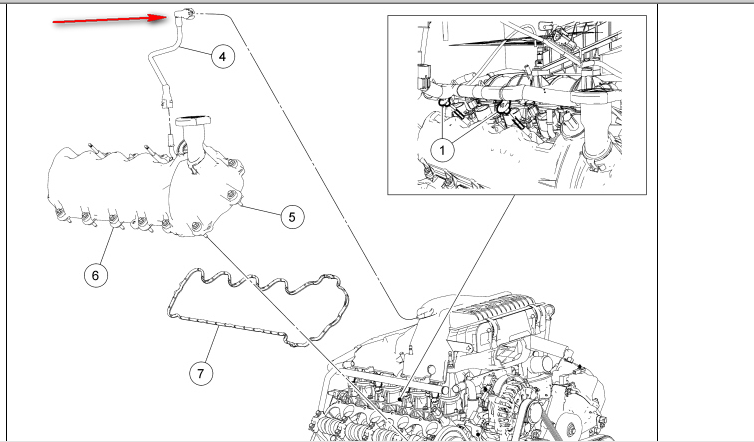 location of pcv valve on 2007 ford f350 5 4 liter html