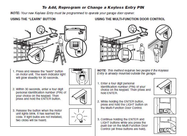 My garage door opener remote has been taken i need to for How to change a garage code