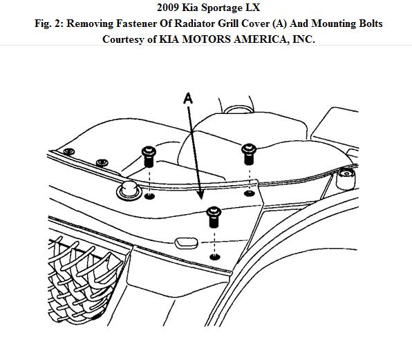 2011 kia sorento front bumper diagram